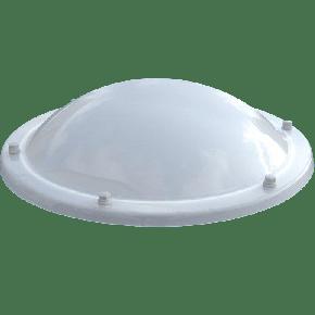 Ronde lichtkoepel acrylaat opaal driewandig