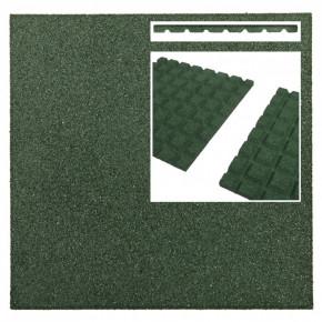 Rubberen tegels groen (50x50x3 cm)