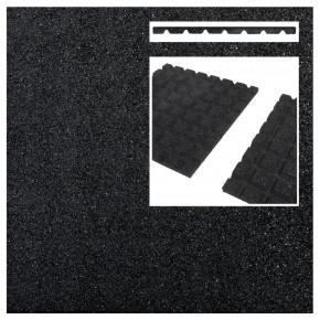 Rubberen tegels zwart (50x50x3 cm)