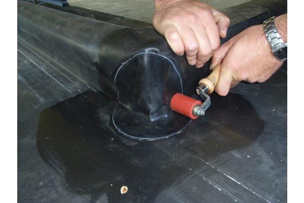 Formflash buitenhoek zelfklevend 22 cm epdm totaal for Vijverfolie plakken