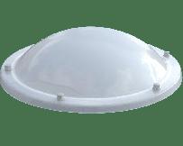 Ronde lichtkoepel polycarbonaat opaal driewandig