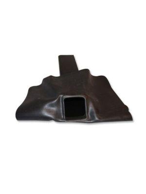EPDM hemelwaterafvoer 60x80x300 mm met EPDM flap 45 graden, vooraanzicht