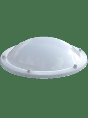 Ronde lichtkoepel acrylaat opaal dubbelwandig
