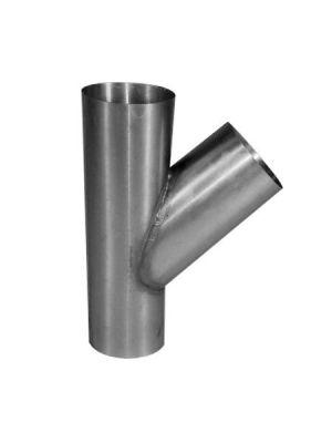 Zinken T-stuk 45 graden rond 80mm